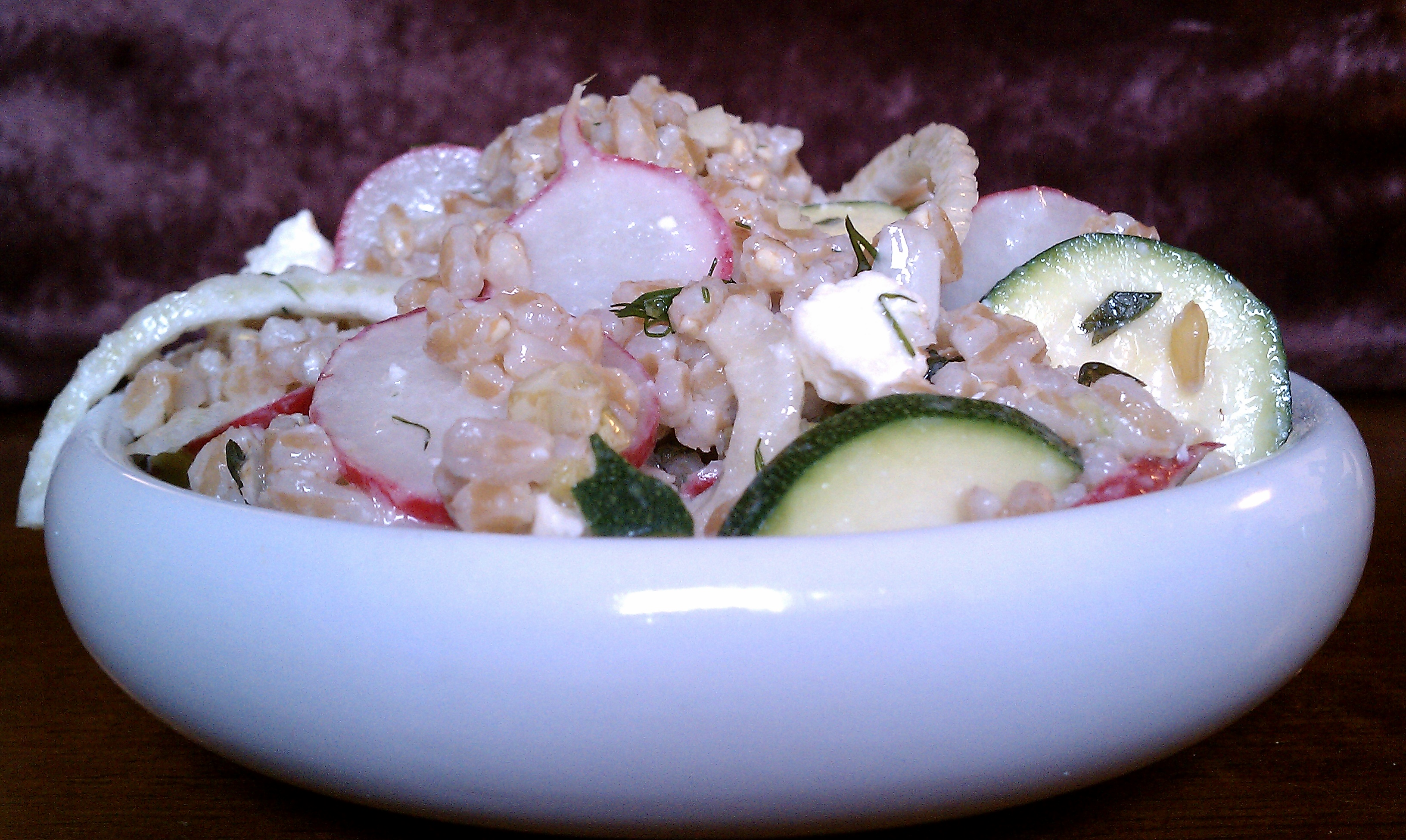 Buttermilk farro salad