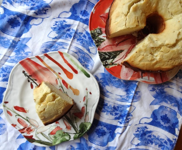 Goat cheese pound cake